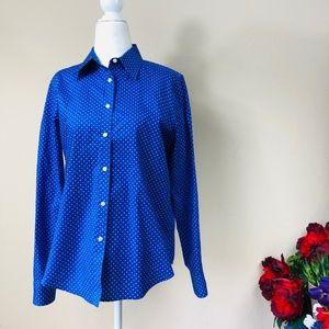 Ralph Lauren Blue Polka-Dot Button Down Shirt M